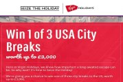 Win 1 of 3 USA City Breaks worth up to £3,000