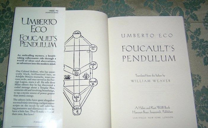 From The Archive : Foucault's Pendulum  –  Umberto Eco