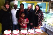 Five lucky winners receive a personalised Valentine cake