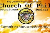 Swindon Fringe Special: The Church of Phil Recruitment Seminar – Fire Donkey Productions – The Bohemian Balcony, Saturday 1st April 2017