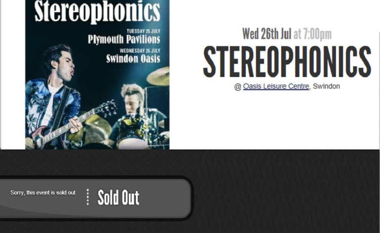 Stereophonics tickets sell out in minutes