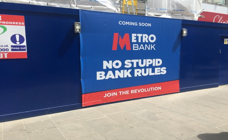 Work underway to transform major town centre location into Metro Bank Swindon